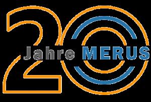 20 Jahre Merus Jubiläum Logo