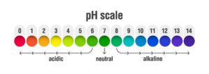 pH value scale and chart