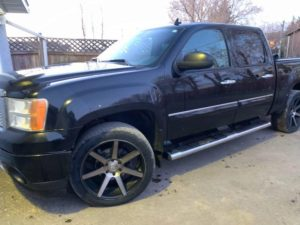 black truck - washed - air dried- no wiping - no stains