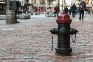 water hydrant in a city