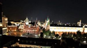 View of the Kremlin from the roof terrace of the hotel.